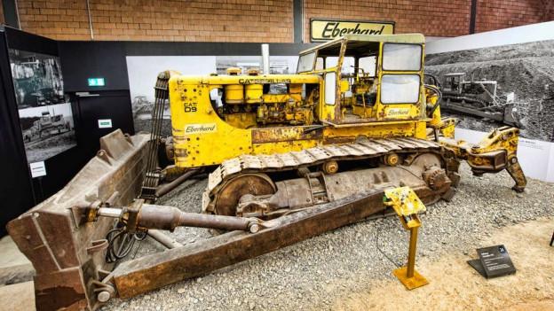 Familie Eberhard sammelt historische Baumaschinen.