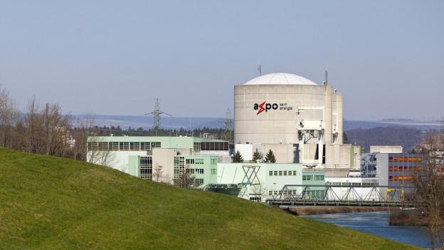 Blick auf die Reaktoren von Beznau