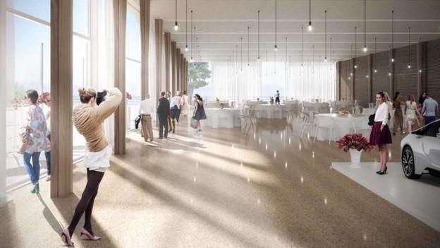 In der neuen Panorama-Halle (Visualisierung) sollen auch grössere Anlässe möglich werden.