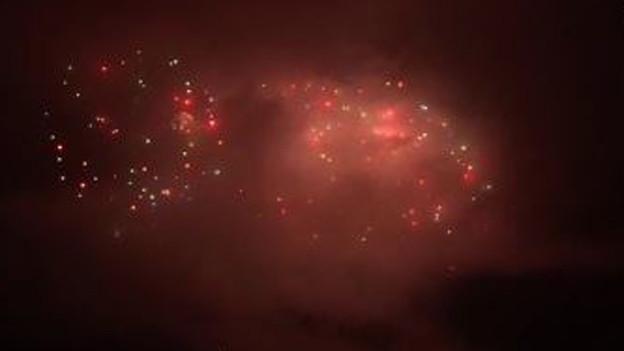 Feuerwerk im Nebel