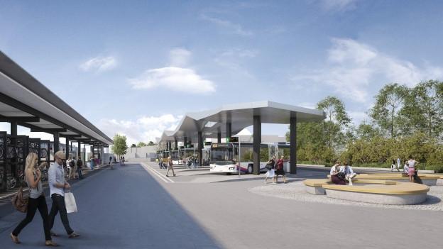 Visualisierung Wohlen Bahnhof
