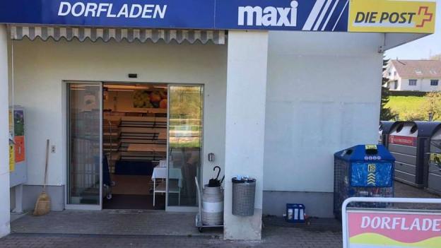 Eingang eines Ladens.