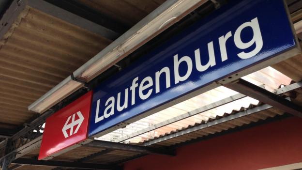 Bahnhoftafel von Laufenburg