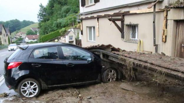 Die Unwetter in der Region waren fast so heftig wie der schweizweite Hagelsturm 2011.