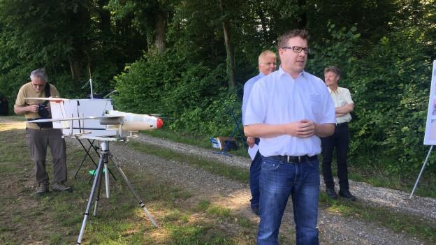 Präsentation einer Drohne