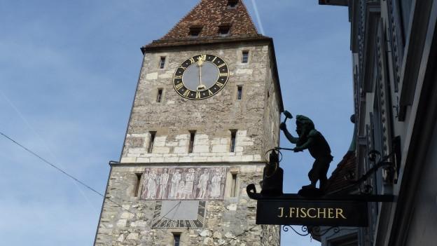 Der Obertrum in der Altstadt von Aarau.