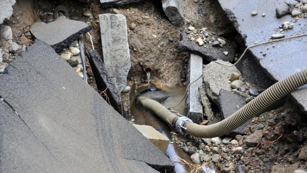 In Obersiggenthal haben sich Wasserleitungsbrüche gehäuft. Schuld sei das Wetter und alte Leitungen. (Symbolbild)