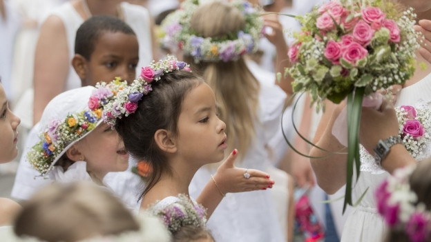 Maienzug und Kinderfest mussten die Umzüge bei Regen durchführen.