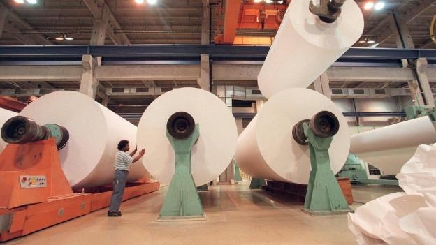 Vergangene Zeiten: Papier-Produktion in Biberist SO