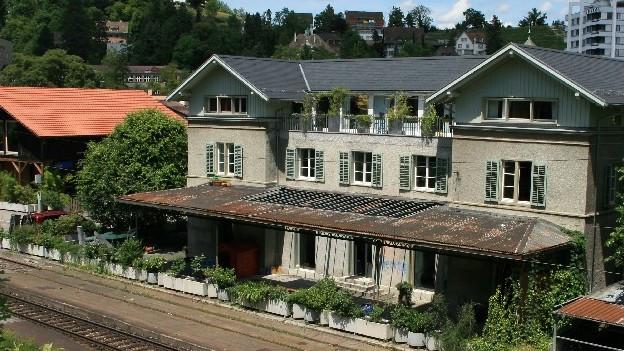 Der Bahnhof Oberstadt in Baden