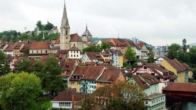 In der Stadt Baden soll der Steuerfuss um fünf Prozentpunkte ansteigen.