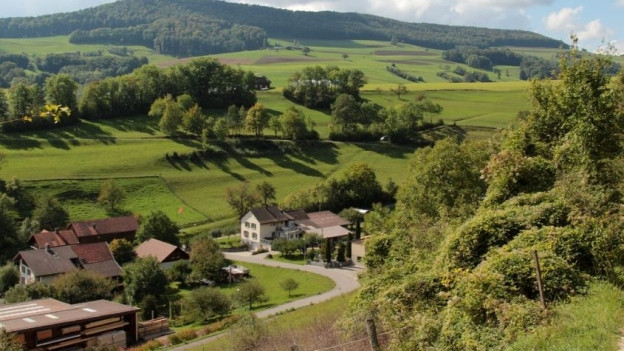 Das Dorf Thalheim im Schenkenbergertal