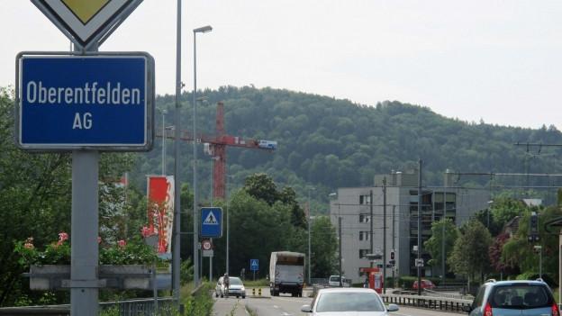 Ortstafel von Oberentfelden