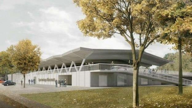 Modell der neuen Sportanlagen in Wohlen