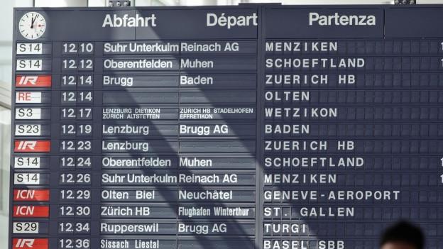 Der Bund will total 12 Milliarden Franken bis 2035 in die Bahnangebote investieren.