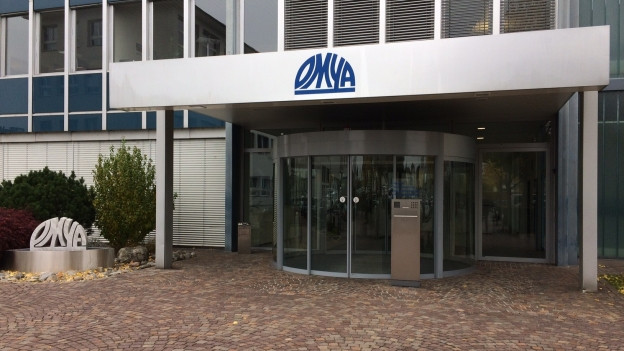 Eingang zu Omya-Hauptsitz in Oftringen.