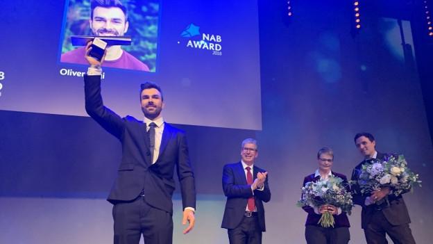 Oliver Hegi freut sich über die Auszeichnung