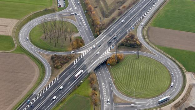 Autobahnanschluss Aarau-West: Der Bund plant zwischen diesem Anschluss und Aarau-Ost noch einen dritten A1-Anschluss.