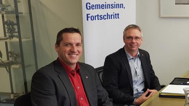 Die beiden BDP-Kantonsräte Martin Flury und Markus Dietschi (links) wechseln zur FDP.