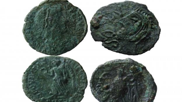 Bei den in Olten gefundenen römischen Münzen handelt es sich teilweise um Imitationen und Falschgeld.