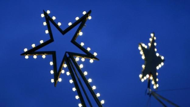 Leuchtende Sterne.