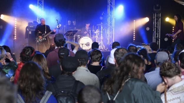 Zuschauer an einem Konzert
