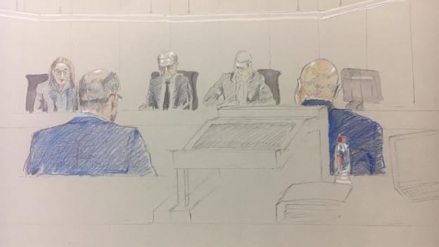 Die beiden Beschuldigten – Geschäftsführer und VR-Präsident der ASE-Investment – vor dem Aargauer Obergericht.