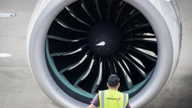 Das Triebwerk eines Verkehrsflugzeuges