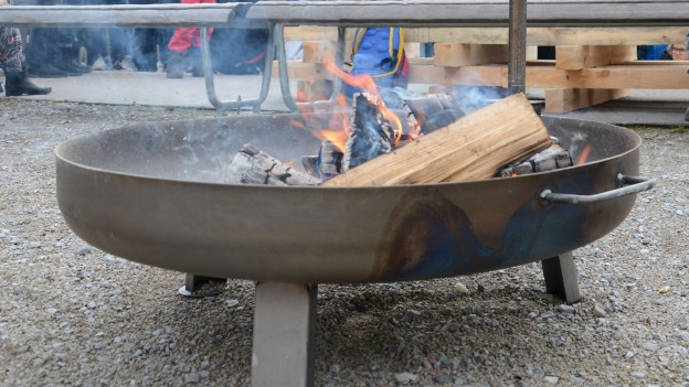Zwei Wochen brennt das Lagerfeuer in Aarau.