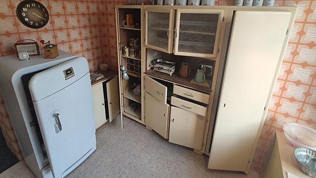 Eine Küche aus den 50er-Jahren im Grenchner Museum, als Zeitzeuge vergangener Zeiten.