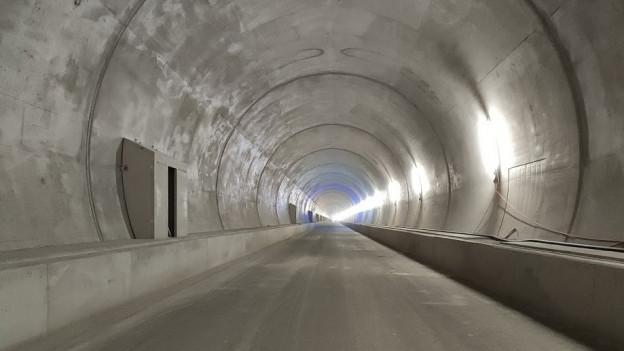 Der neue Bözberg-Tunnel im Rohzustand