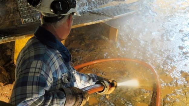 Im Bergwerk Herznach investieren Freiwillige viel Zeit, um das Industriedenkmal für Besucher attraktiv zu machen.