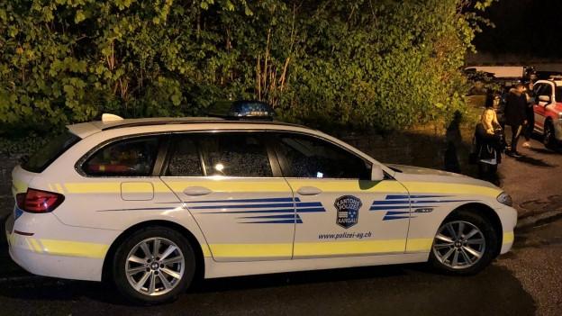 Polizeifahrzeug in Spreitenbacher Wohnquartier