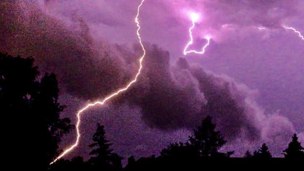 Das Unwetter richtete in der Region Schäden an.