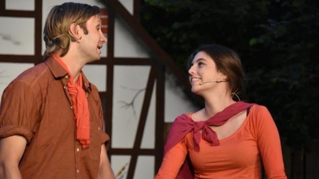 Romeo und Julia in Grenchner Fassung. Aufnahme von einer Probe der Grenchner Freilichtspiele.