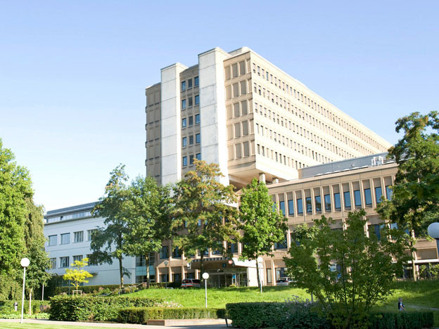 Das Hauptgebäude des Kantonsspitals Aarau