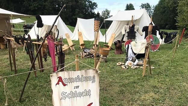 Schlachten, Ritter, Pfeilbogen, Lagerfeuer: Hilfikon bei Villmergen ist im Mittelalterfieber.