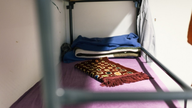 Bett in Asylunterkunft