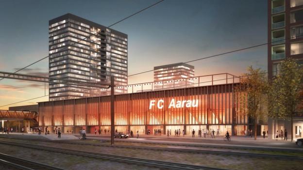 Geplantes Aarauer Fussballstadion nimmt zwei wichtige Hürden