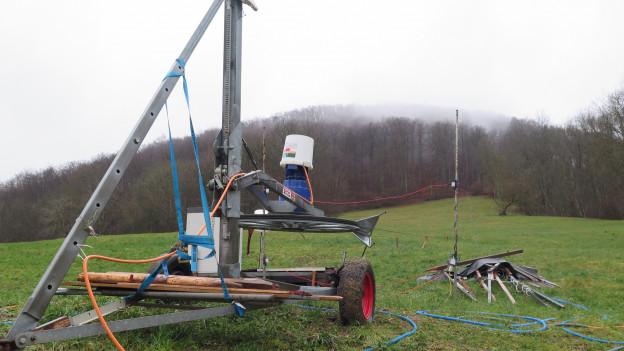 Der Skilift in Densbüren in der Nähe von Aarau, am 27. Dezember 2019.