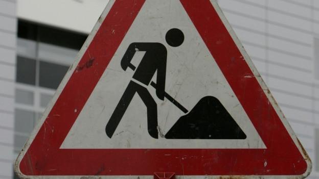 Baustelle führt in Aarau zu Chaos