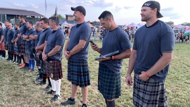 Teilnehmer der Highland Games.