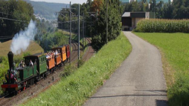 Wird heute nur noch für Güterzüge und historische Fahrten benutzt: Die alte Bahnstrecke am Hochrhein.