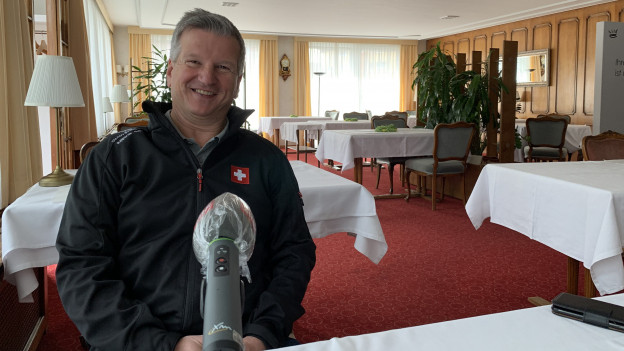 Gastro Aargau Präsident Bruo Lustenberger in seinem Restaurant in Aarburg.