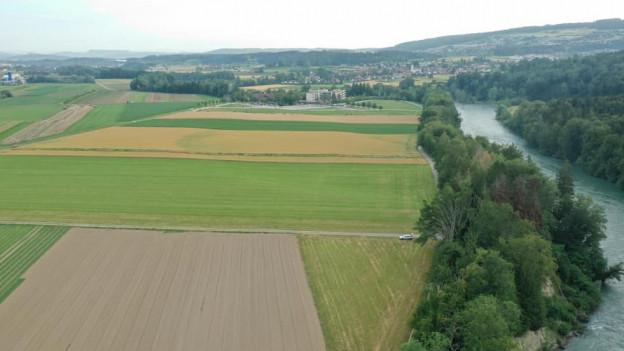 Die Landwirtschaftsflächen in Niederwil, die nun nicht zum Golfplatz werden.