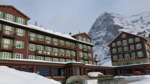 Hort der Ruhe im Weltcup-Sturm: Hotel Bellevue des Alpes auf der Kleinen Scheidegg.