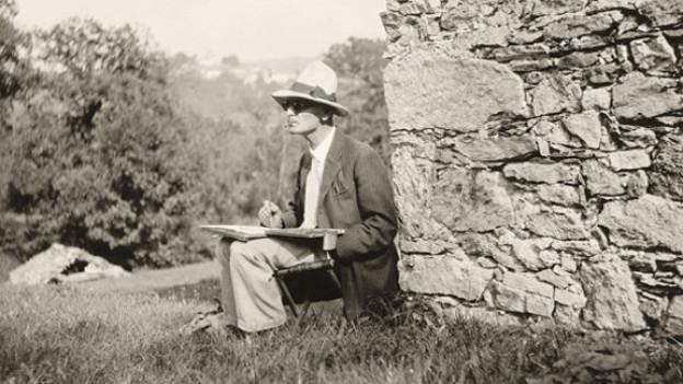 Hermann Hesse in Montagnola Ende der 1920er-Jahre.