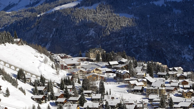 Dem markanten Hotel Alpine Palace (Bildmitte) droht das Aus.