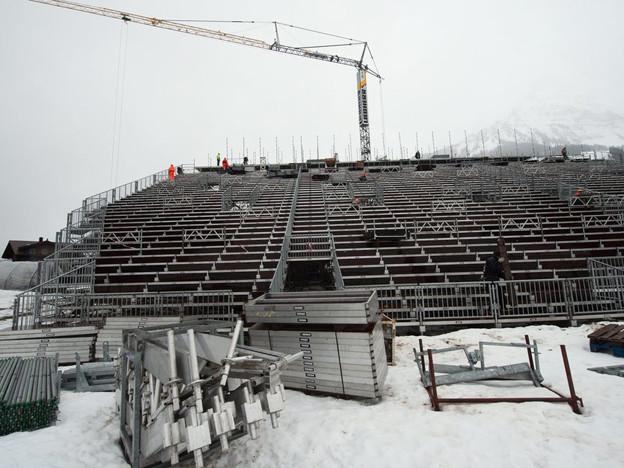 Schnee gut. Piste gut. Das Weltcupdorf Adelboden ist bereit für die Rennen.