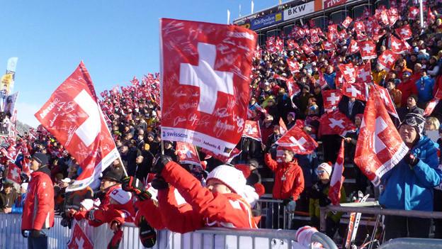 Es waren viele Schweizer Fans da - aber weniger als auch schon.